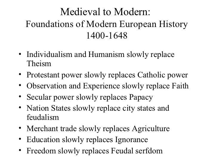 ap european history overview  a new beginning 2 medieval to modern foundations of modern european history