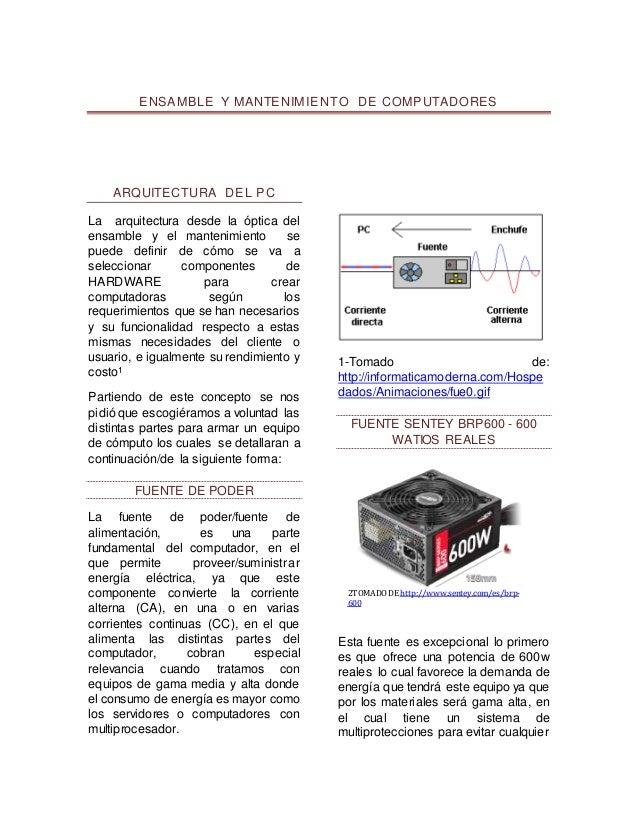 Ensamble y mantenimiento 103380 47 fase 1 universidad for Arquitectura tecnica a distancia
