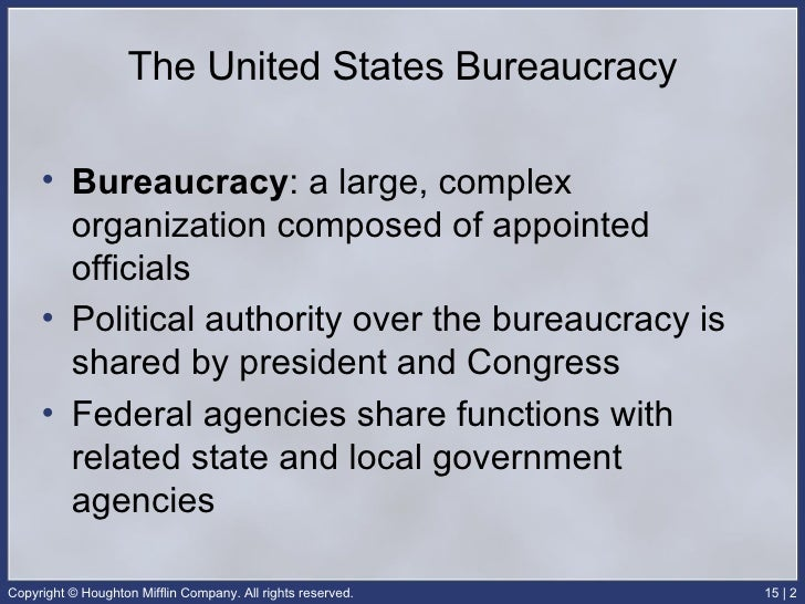 AP Government Final: Bureaucracy