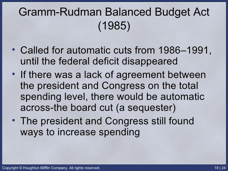 Ap gov chap 18 24 gramm rudman balanced budget platinumwayz