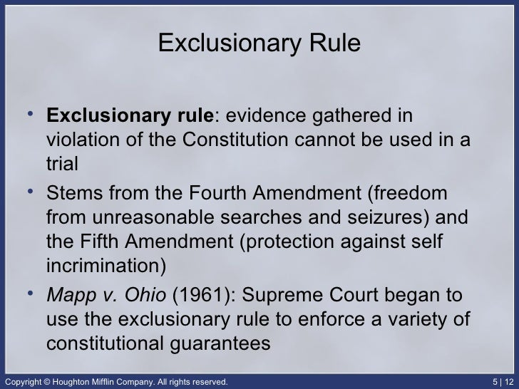 exclusionary rule individual case analysis and Case study lab report speech rule and identify exceptions to the exclusionary rule in your analysis of muscular individual rights the court also enforced.