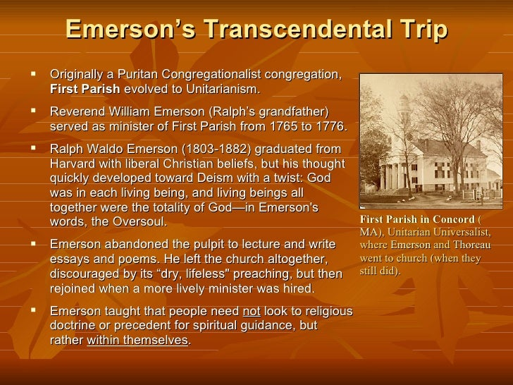 Emersons essay oversoul