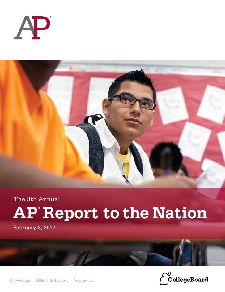 The 8th Annual AP Report to the Nation             ® February 8, 2012Knowledge | Skills | Behaviors | Awareness