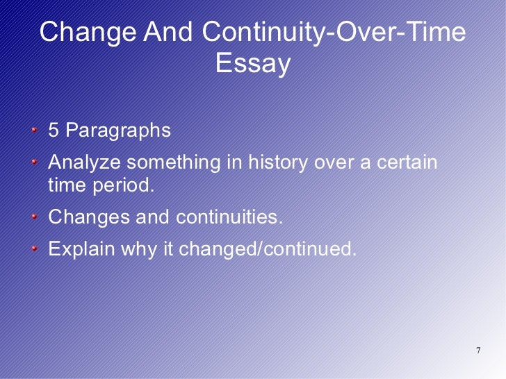 Ap world history continuity change over time essay