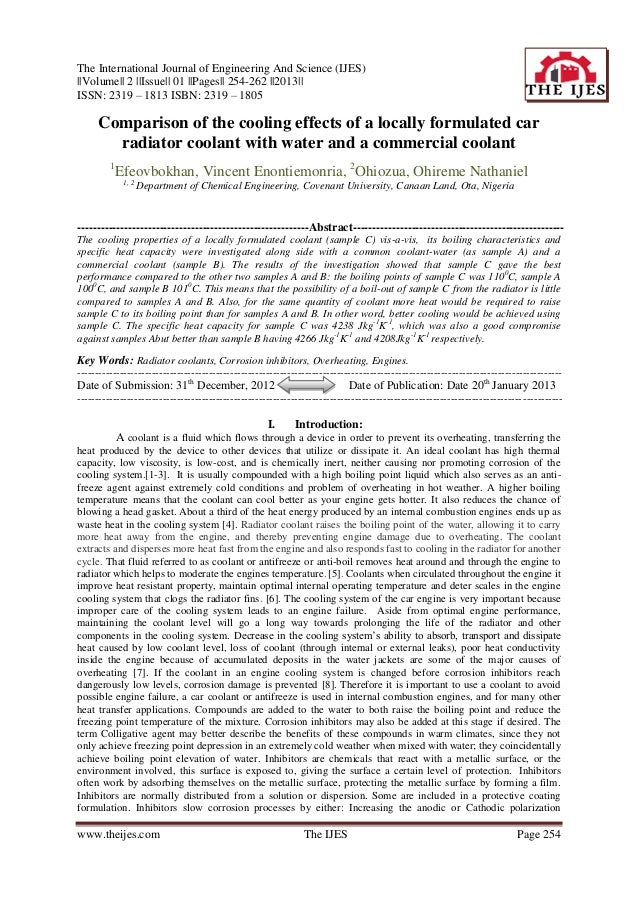 The International Journal of Engineering And Science (IJES)||Volume|| 2 ||Issue|| 01 ||Pages|| 254-262 ||2013||ISSN: 2319 ...