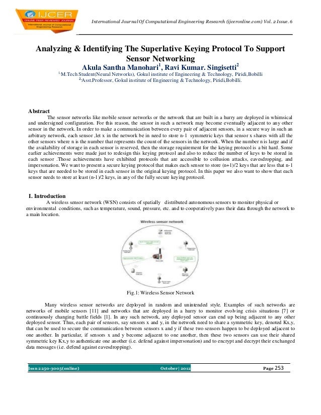 International Journal Of Computational Engineering Research (ijceronline.com) Vol. 2 Issue. 6    Analyzing & Identifying T...