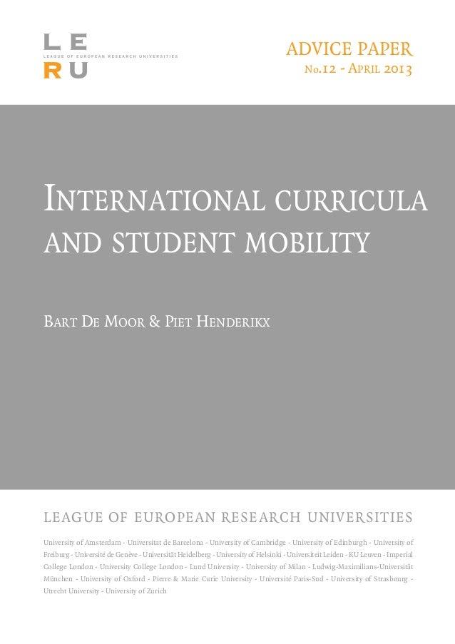 International curriculaand student mobilityBart De Moor & Piet HenderikxUniversity of Amsterdam - Universitat de Barcelona...