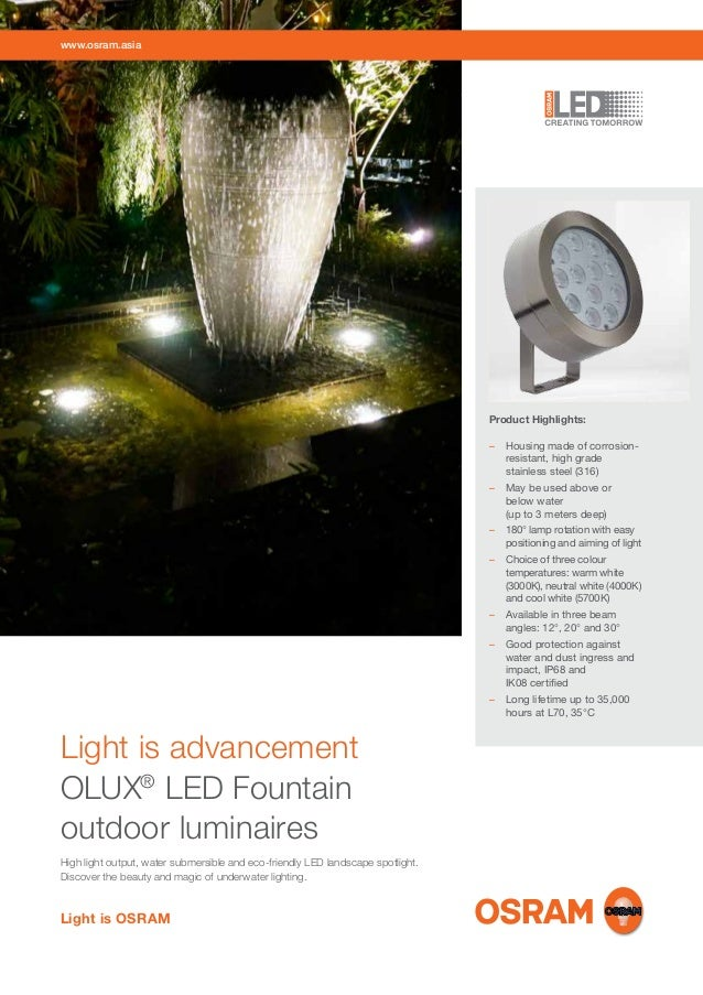 www.osram.asia  Product Highlights: – Housing made of corrosionresistant, high grade stainless steel (316) – May be used...