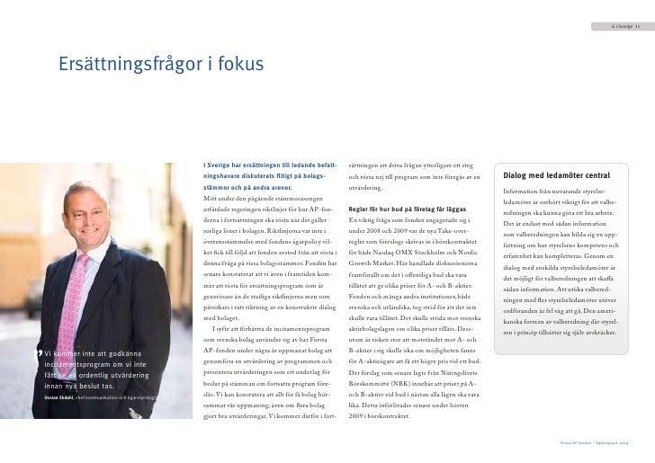 G i Sverige 11               Ersättningsfrågor i fokus                                                             I Sveri...