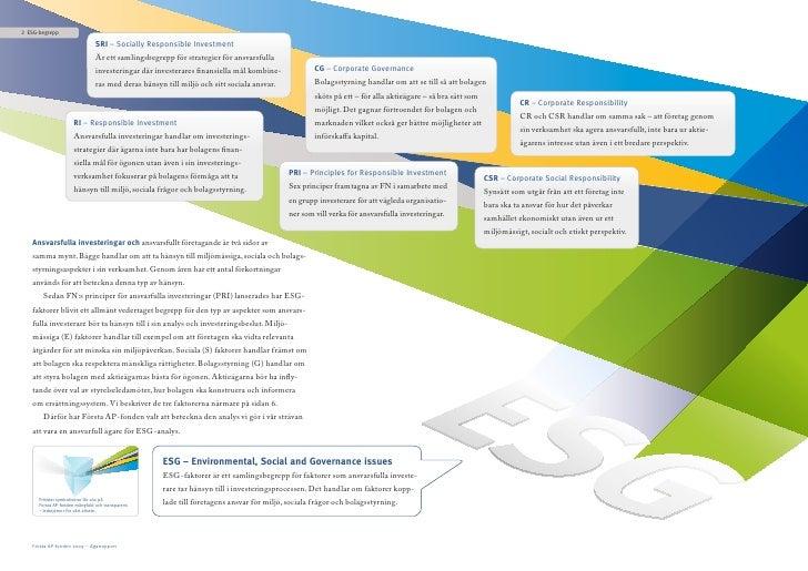 2 ESG-begrepp                                  SRI – Socially Responsible Investment                                 Är et...