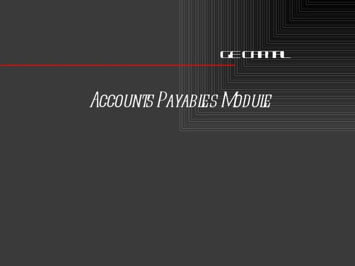 GE Capital Accounts Payables Module