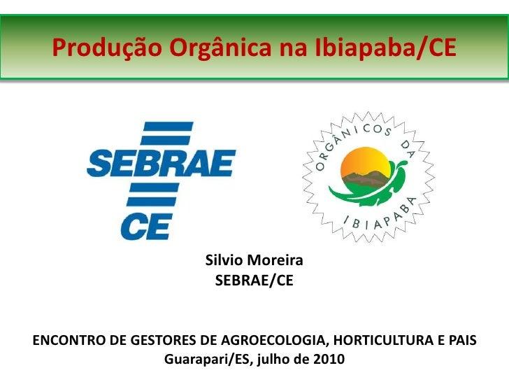 Produção Orgânica na Ibiapaba/CE                           Silvio Moreira                        SEBRAE/CE   ENCONTRO DE G...