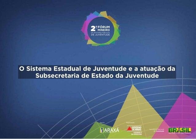 O Sistema Estadual de Juventude e a atuação da Subsecretaria da Juventude de Minas Gerais