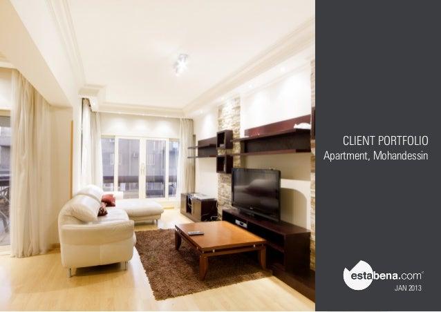 CLIENT PORTFOLIO Apartment, Mohandessin JAN 2013 ...