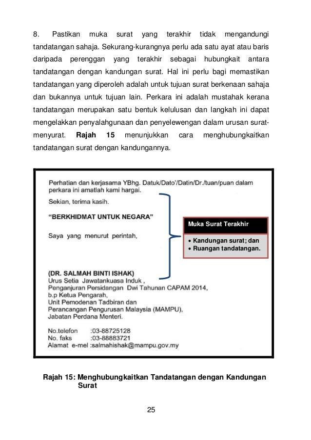 Surat Rasmi Tandatangan Bagi Pihak Zkebaya