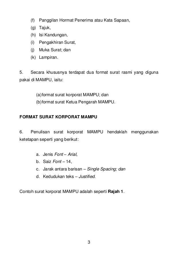 Ap 5 tahun 2014 pdf(penulisan surat rasmi)