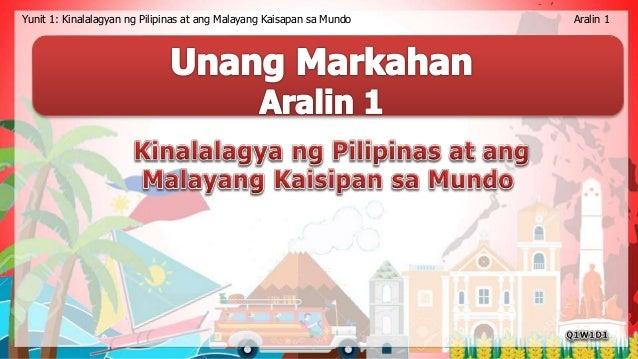 Yunit 1: Kinalalagyan ng Pilipinas at ang Malayang Kaisapan sa Mundo Aralin 1