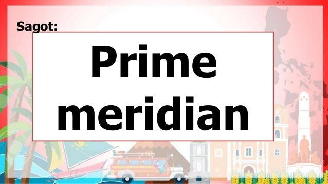Prime meridian Sagot: