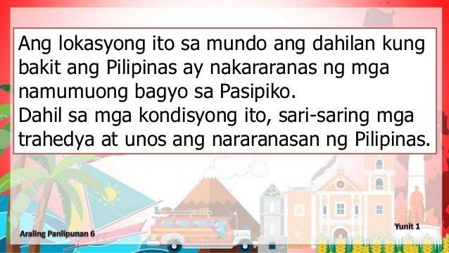 Ang lokasyong ito sa mundo ang dahilan kung bakit ang Pilipinas ay nakararanas ng mga namumuong bagyo sa Pasipiko. Dahil s...