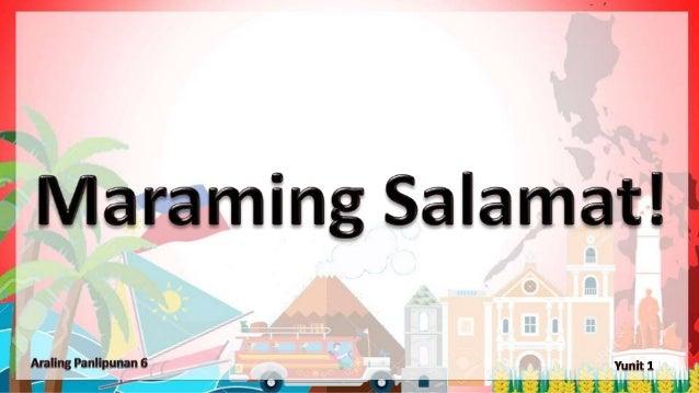 Araling Panlipunan 6 Grade 6 1st Quarter Week 1 Day 1