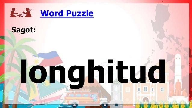 Word Puzzle Sagot: longhitud