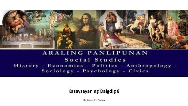 wf Kasaysayan ng Daigdig 8 Bb. Ria de los Santos