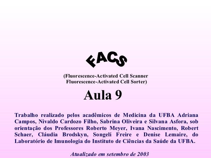 Trabalho realizado pelos acadêmicos de Medicina da UFBA Adriana Campos, Nivaldo Cardozo Filho, Sabrina Oliveira e Silvana ...