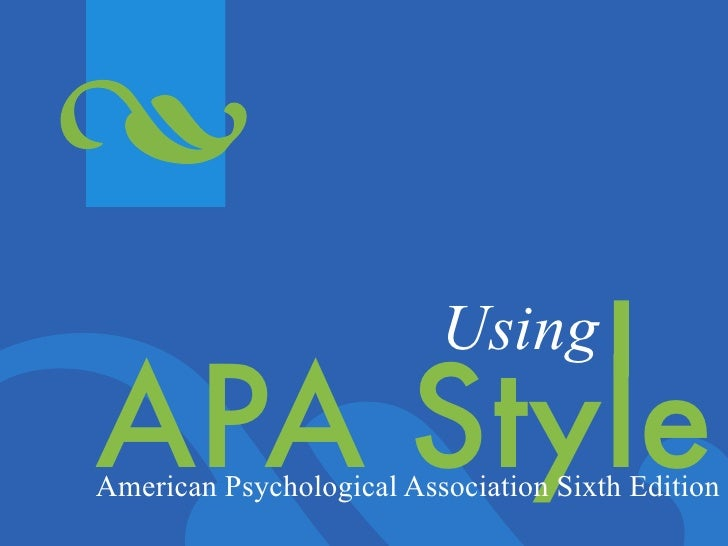Apa style manual