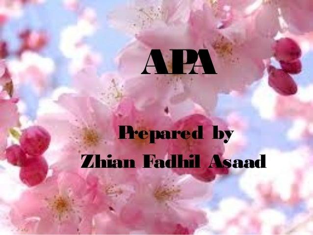 AP A P repared by Zhian Fadhil Asaad