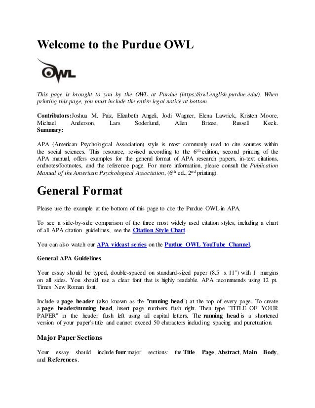 apa rh slideshare net APA 6th Edition Chart APA 6th Edition Sample Paper