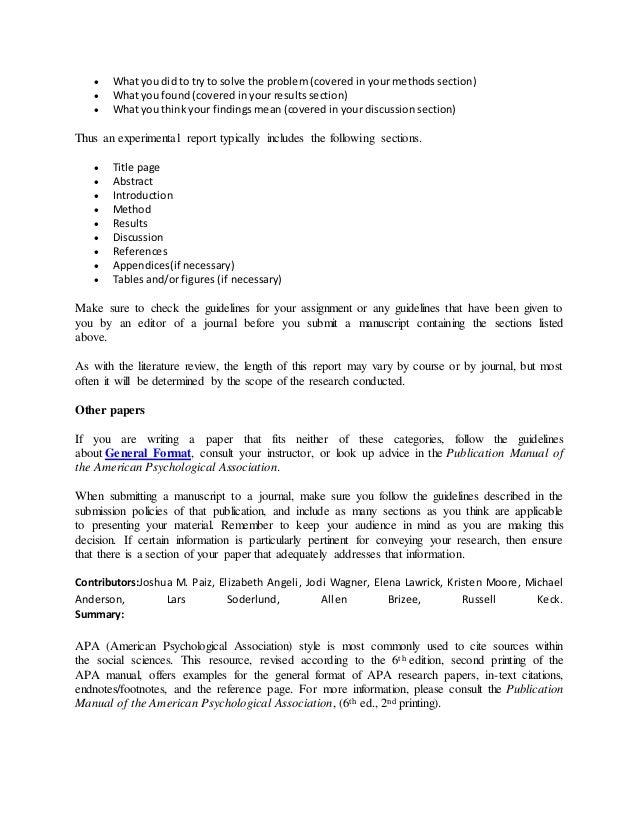 apa rh slideshare net apa manual 6th edition second printing Cover Page APA 6th Edition