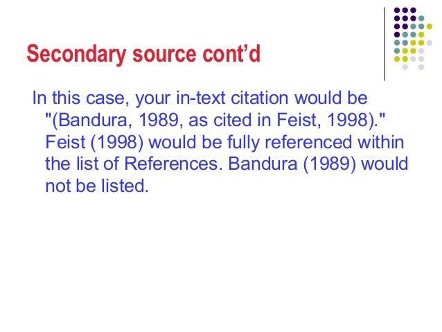 How to cite secondary sources apa jan kozak essay