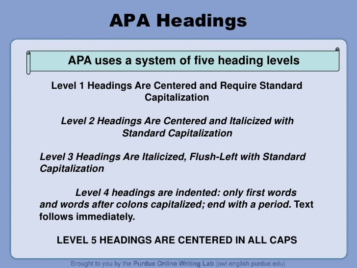 Apa literature review headings