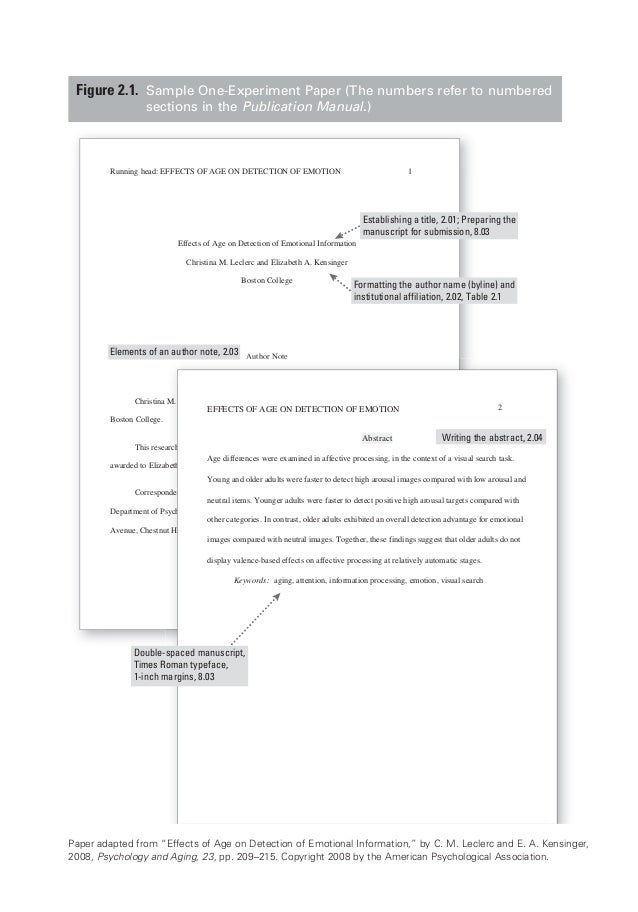 apa corrected sample papers by apa org
