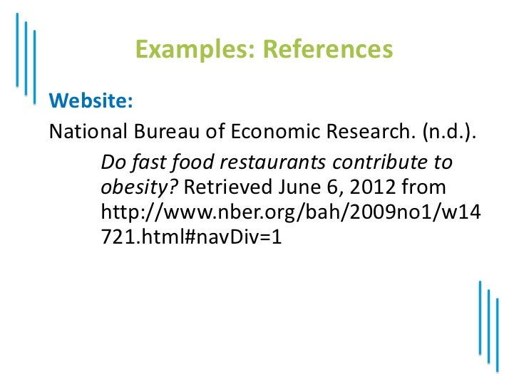childhood obesity in apa format with in text citation Apa parenthetical citations and list of references style this handbook references apa manual page numbers (6th edition, first printing with corrections ) when applicable use this handbook as a quick guide for this is an undergraduate student's 13-page literature review about childhood obesity for a psychology.
