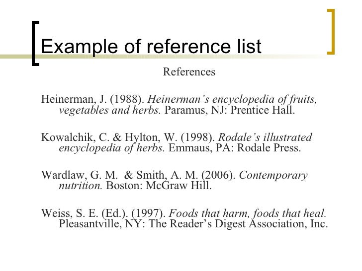 apa style examples of references Documenting sources in apa style -- pdf, 8p the apa style guide, designed by the american psychological association, is commonly used by social and behavioral .