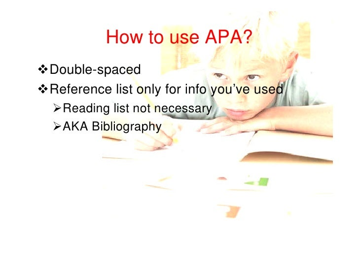 The basics of APA Style here (short... - How to write ...