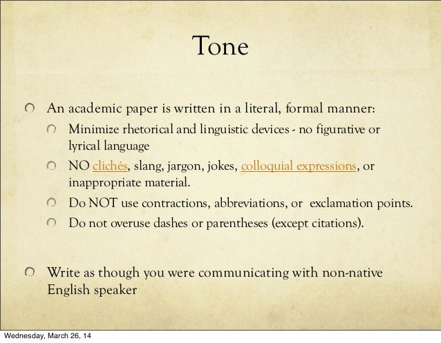 Is it Appropriate to Use Slang Words in Academic Writing?