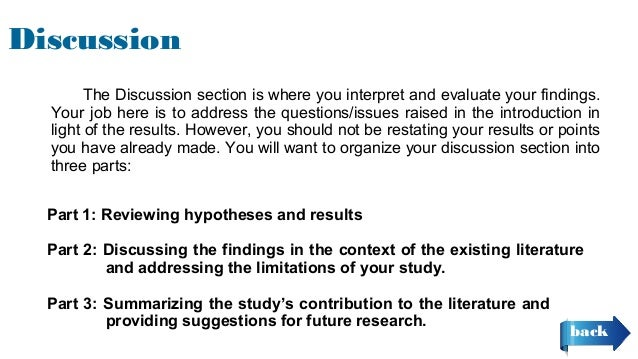 apa discussion section example