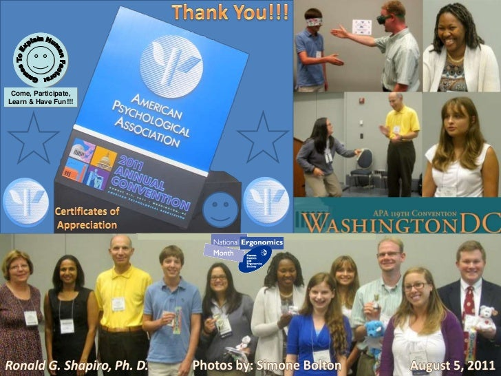 Thank You!!!<br />Games To Explain Human Factors: Come, Participate, Learn & Have Fun!!!<br />Presenter Dr. Ronald G. Shap...