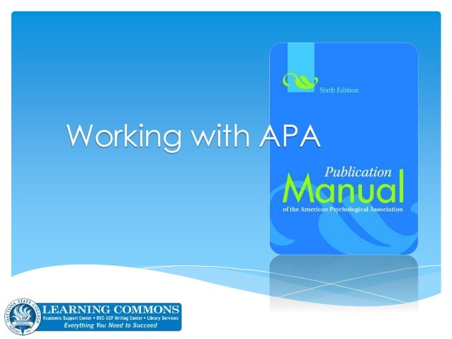 Working with APA