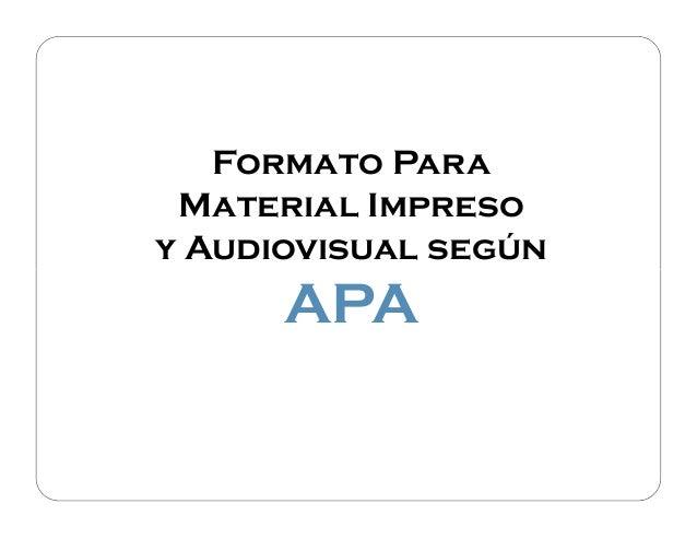 Apa 6 ed