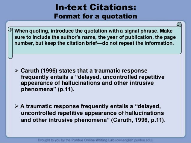 How To Cite Quote Apa 6th APA 6th Ed Tutorial v101 Quotes