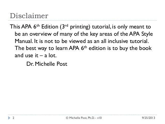 apa manual 6th edition free download