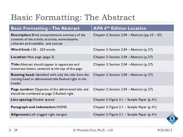 apa format 6th edition sample paper