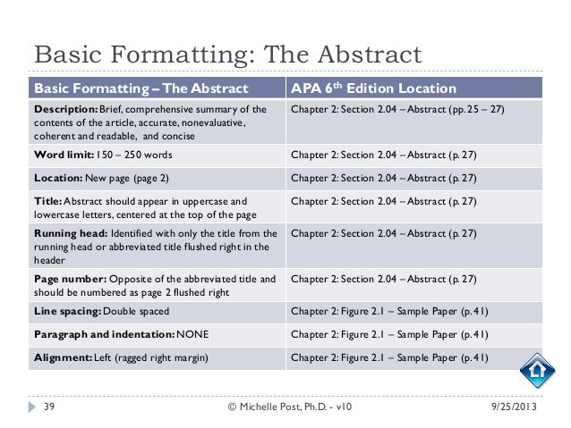 apa 6 dissertation margins