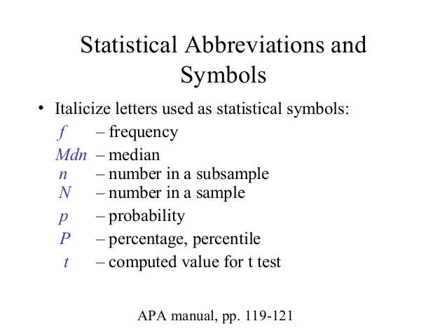 Notation in probability and statistics