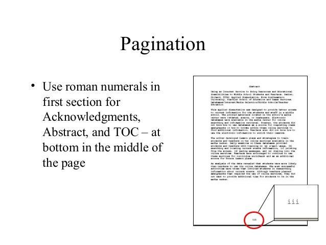 Youtube dissertation pagination