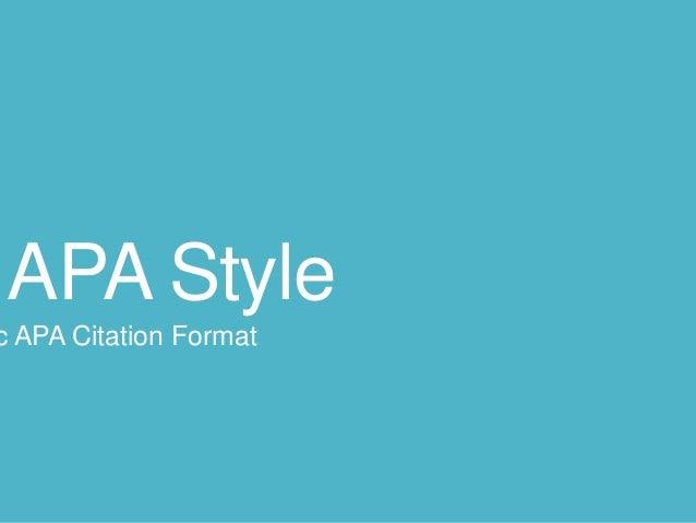 APA Style c APA Citation Format