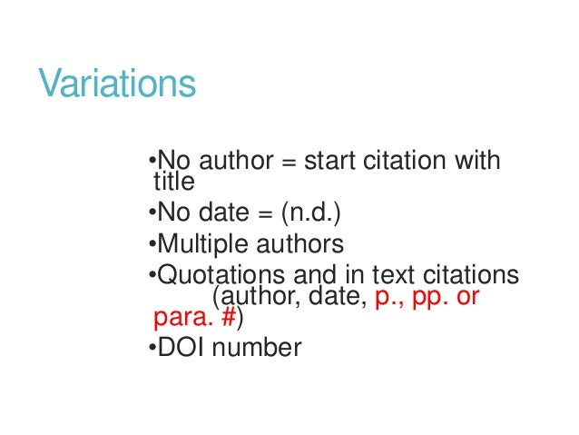 Apa in text citation no date
